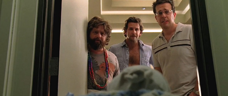 the hangover baby in closet