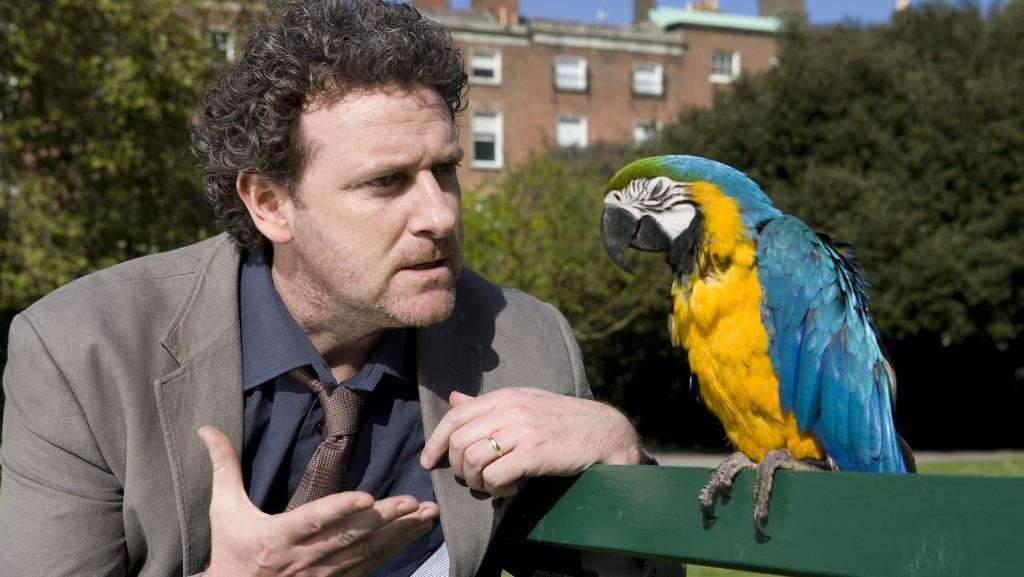Ristéard Cooper as Setanta & Máirtín Ó Direáin the parrot