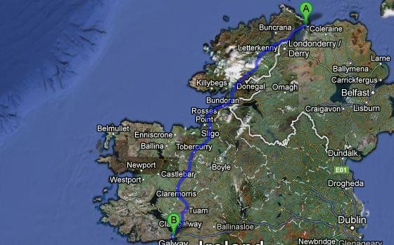 Greencastle to Galway